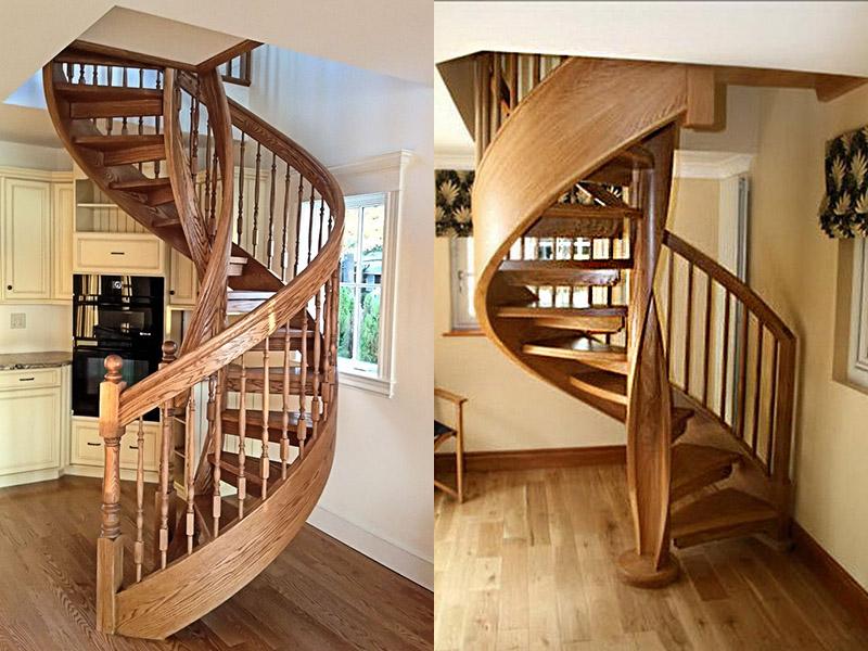 Деревянные резные винтовые лестницы своими руками 125