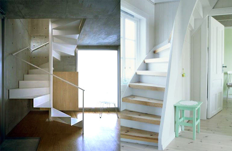 незаметная винтовая лестница