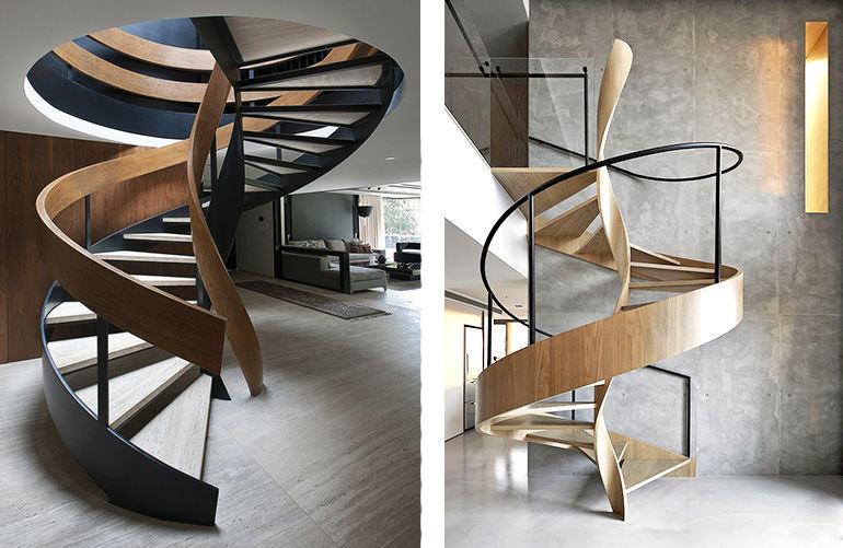 винтовые лестницы на металическом каркасе